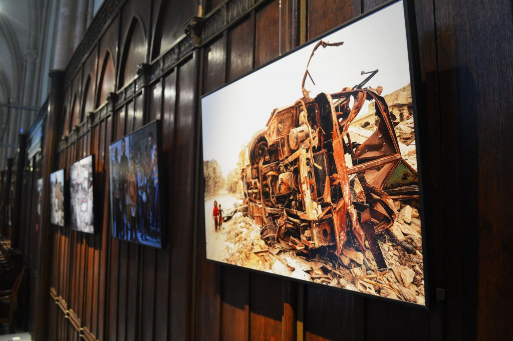 photo enfants murs de l'exposition